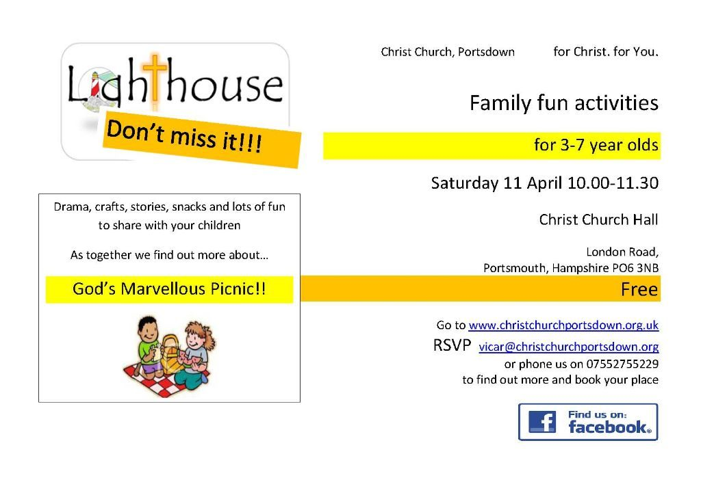 Lighthouse: Family fun activities @ Christ Church Portsdown | Waterlooville | United Kingdom